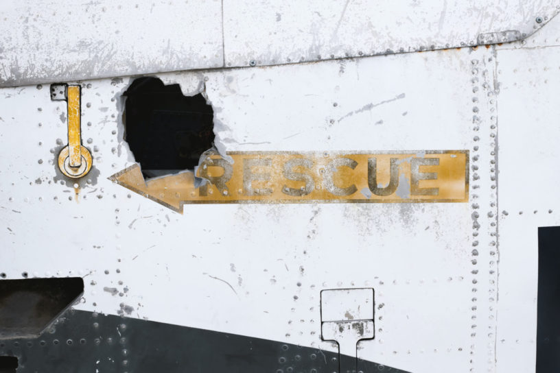 neergestort vliegtuig
